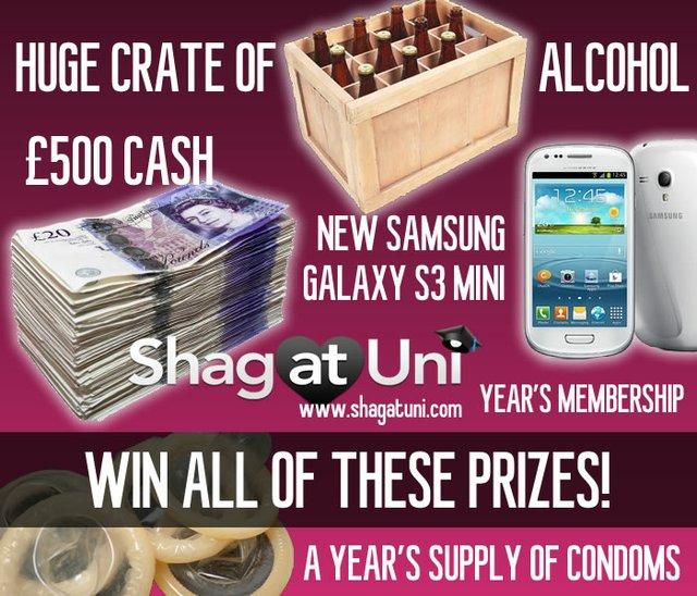 Shag at Uni prizes