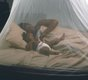 Treated mosquito nets like this can reduce malaria outbreaks