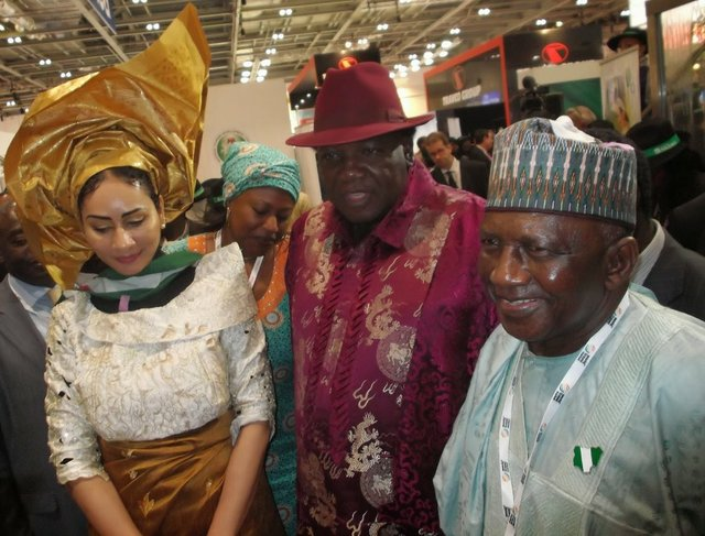 Mrs Sally Mbanefo, High Chief Edem Duke and Dr Dalhatu Sarki Tafida