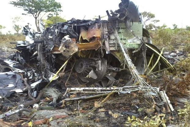 Wreckage of Mozambique Airlines plane crash