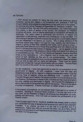 Obasanjo's letter to Jonathan 2 Dec 2013 - Page 4