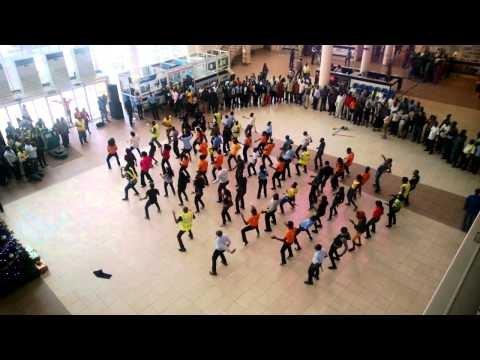 Flashmob holds at Murtala Muhammed Airport Lagos