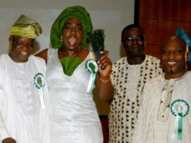 Lafrosa Professor Debo Adebayo, Mrs Ronke Udofia, guest and Lamide Olagbaju.JPG