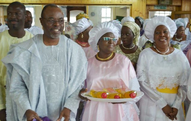 Otunba and Princess Adenuga are joined by family members, friends and well-wishers in the thanksgiving