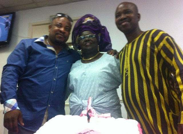 Princess Adenuga and two members of staff of Femade UK Ltd