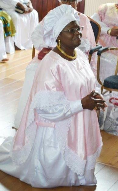 Princess Adenuga in communion with God