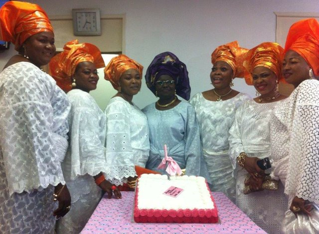 Princess Adenuga joined by friends in cutting the Birthday cake