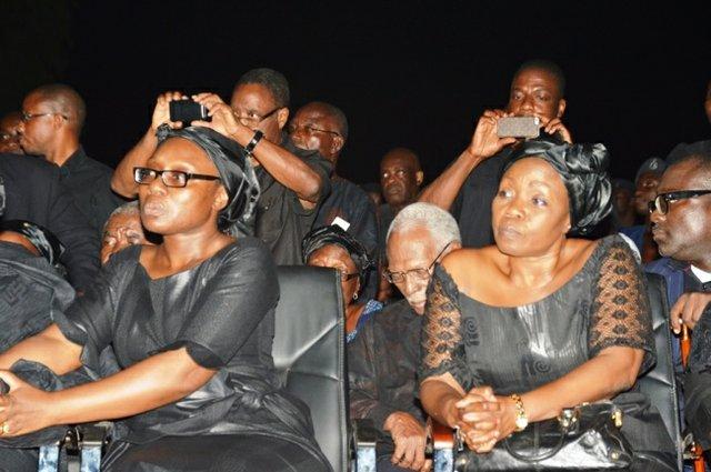 Komla's older sister, Mawuena Trebarh (left) and Dumor family spokesperson, Madam Esther Cobbah (right)
