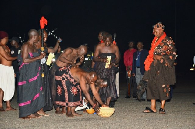 Traditional rites at the ceremony