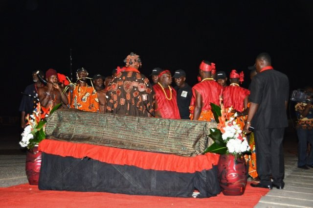 The body of Komla Dumor comes home