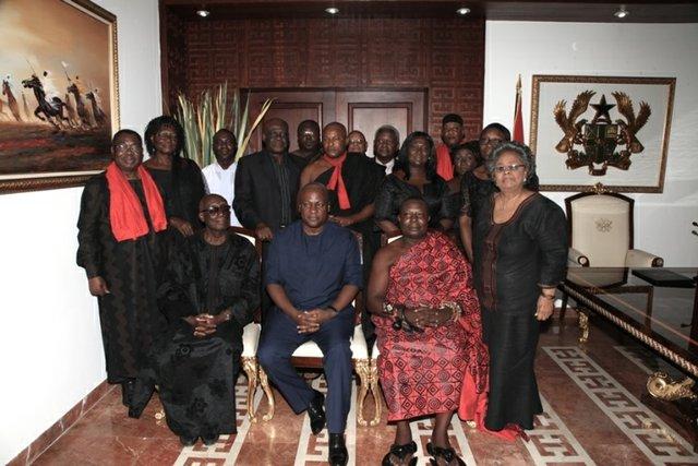 The Dumor family during an earlier visit to Ghana's President John Mahama