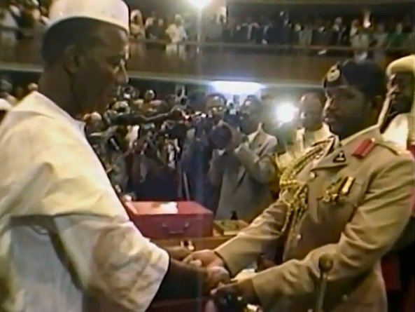 Julius Maada Bio handing over power to Ahmad Tejan Kabbah in 1996