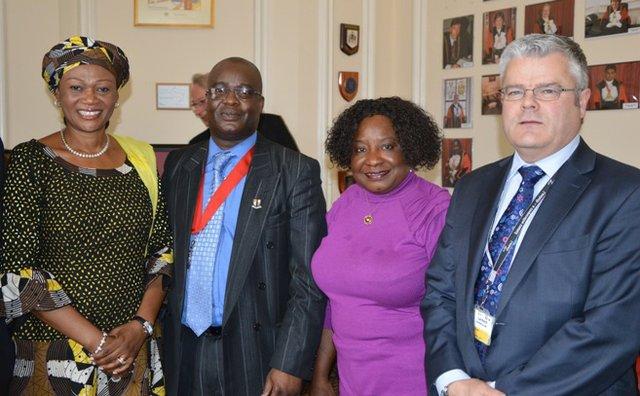 Senator Oluremi Tinubu; Cllr Adedamola Aminu; Cllr Tina Valcracel; and Cllr Paul Mcglone