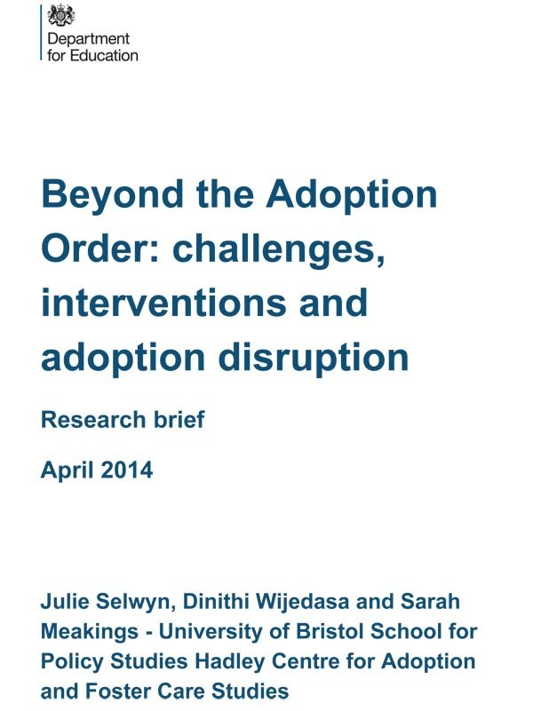 Beyond the Adoption Order
