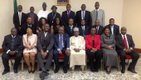 A cross section of Nigerian Centenary Awards UK team members with the High Commissioner