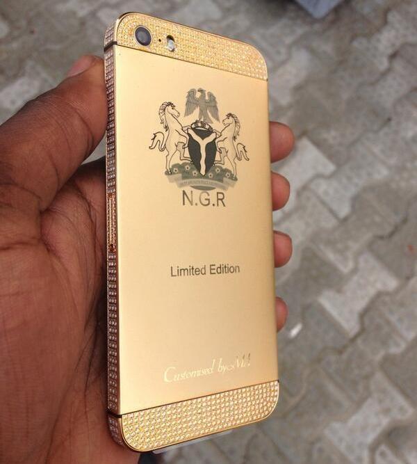 24CT Matt Gols with Swaroski Crystal customised iPhone 5