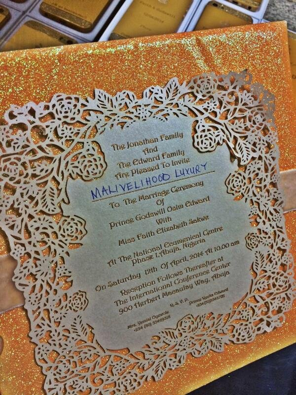 The Invitation to the wedding