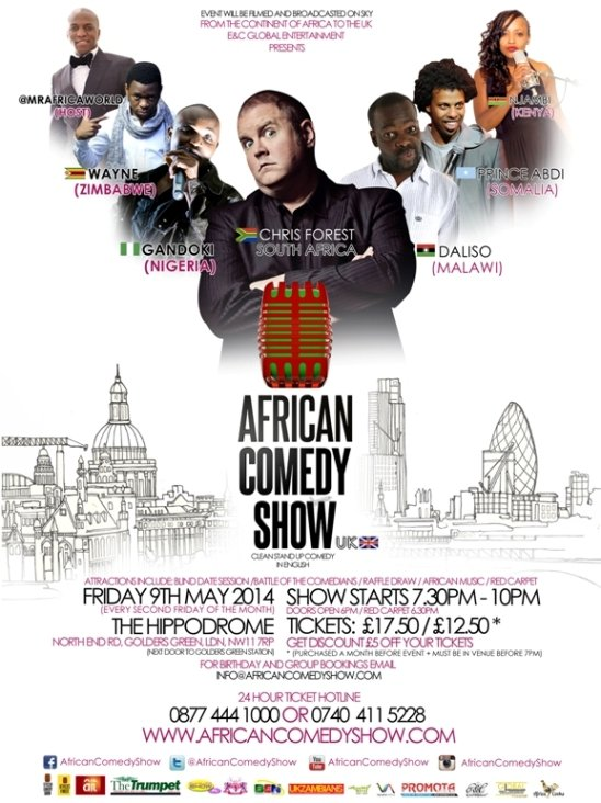 African Comedy Show on May 9