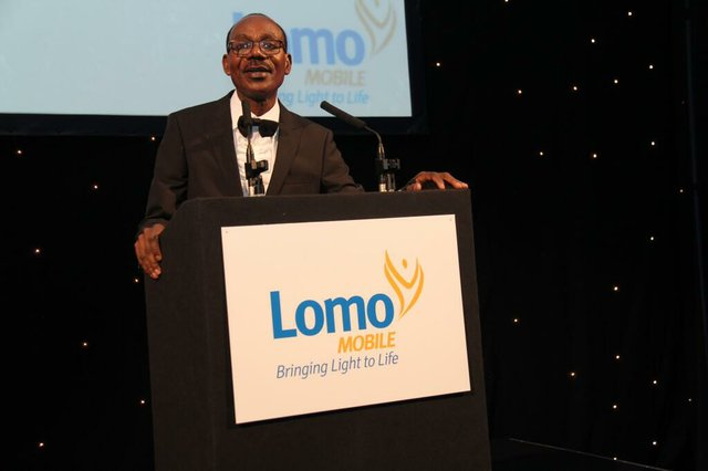 Lomo Founder - Godwin Ere-Victor delivering his speech