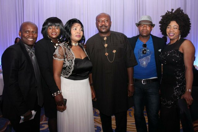 Sam Dede, Bonaventure Chuks Ajuka and friends at Lomo Launch
