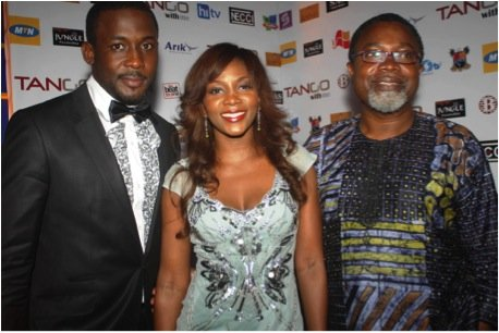 Tango With Me stars - Joseph Benjamin and Genevieve Nnaji; and Producer - Mahmood Ali-Balogun
