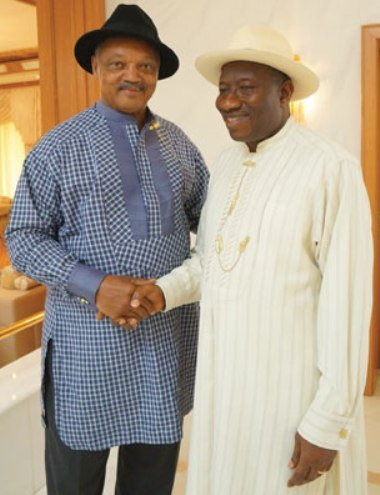 Jesse Jackson and Goodluck Jonathan
