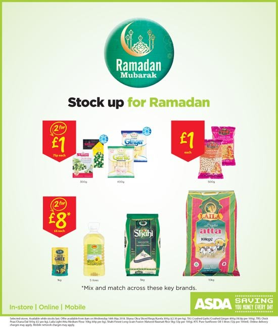 Stock up for Ramadan at ASDA