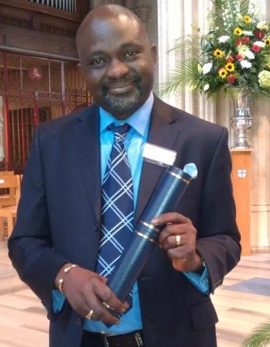 Sunny Lambe shows off his Southwark Civic Award