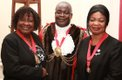 Former Mayor of Lambeth - Cllr Christiana Valcarcel, Cllr Aminu and former Speaker of Hackney - Cllr Susan Fajana-Thomas