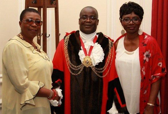 Princess Deun Adedoyin-Solarin, Cllr Aminu and his partner - Dolapo