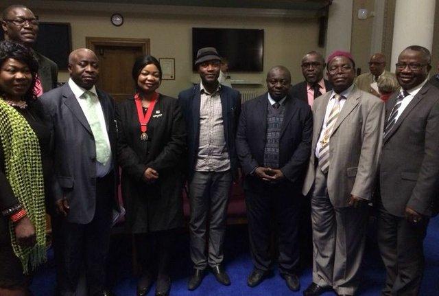 From left: Olori Grace Alli-Tijani, Ayo Akinfe, Prince Adeniyi, Cllr Fajana-Thomas, Ayan De First, Mr Sina Alege, Mr Akin Adejumo, and Mr Mike Abiola