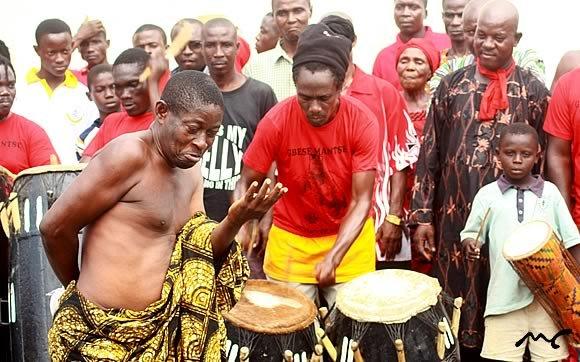 Celebrating the Homowo festival