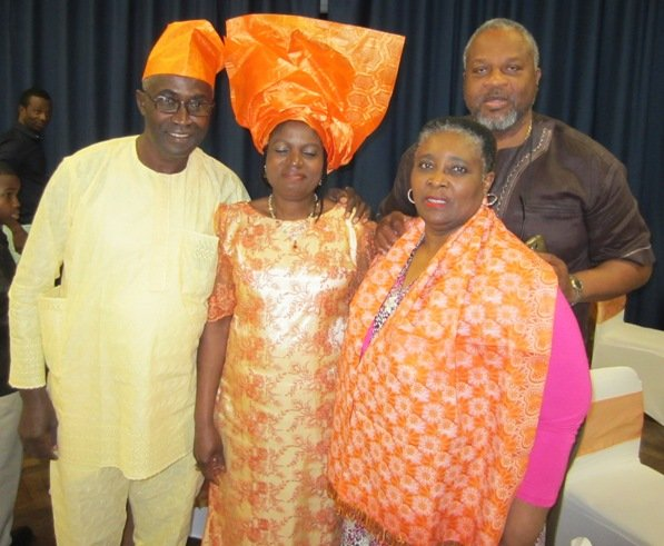 (L to R) Michael and Martha Haruna and Dr Ronnie and Paullet Cooper