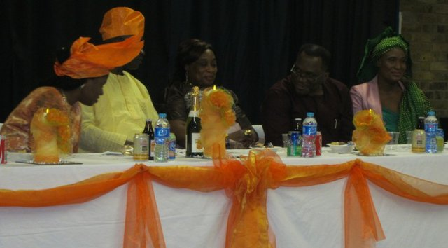 Tête à Tête at the high table (L to R) Martha, Micahel, Pastor Bola, Pastor Tunde and Pastor Teressa