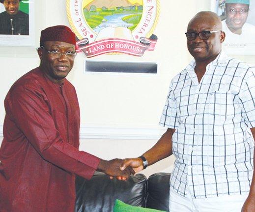 Kayode Fayemi congratulating Ayo Fayose