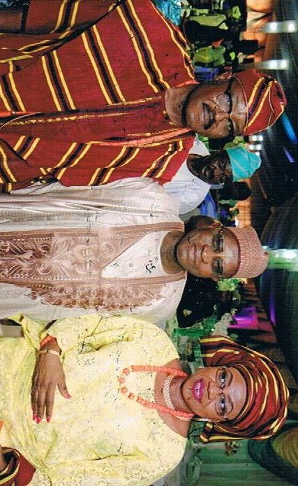 Former Chief Justice - Alfa Modibbo Belgore flanked by Groom's parents