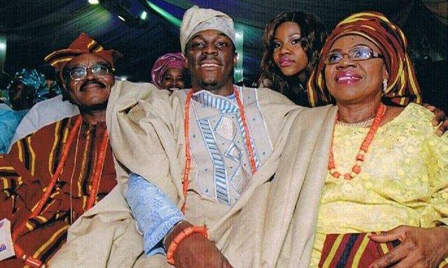 The Groom - Barrister Boonyameen Babajide Lawal with his parents - Ambassador O.K & A.B. Lawal