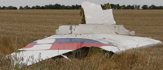 Debris from MH17 plane crash