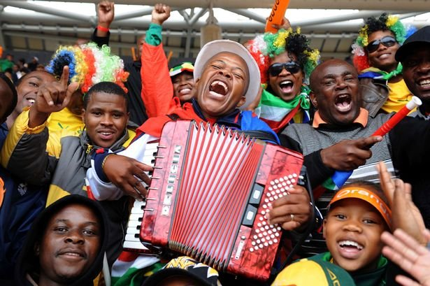 Fans at AFCON Opening Ceremony
