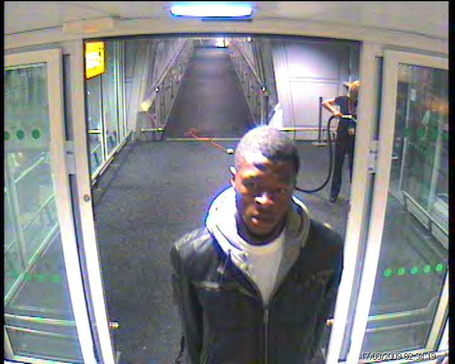 Jeffrey Okafor caught on camera leaving Heathrow Airport