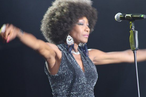 Maizie Williams of BONEY M entertain fans