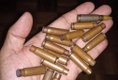 Ammunition collected from the scene of the procession
