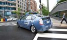 Google's self-driving car on a Washington street