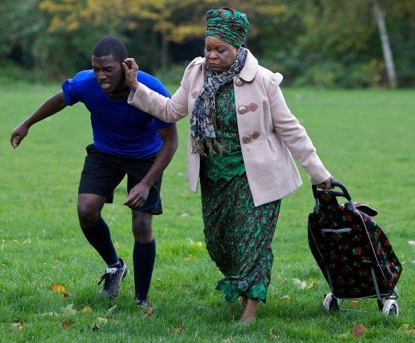L-R: Malachi Kirby and Golda John Abiola