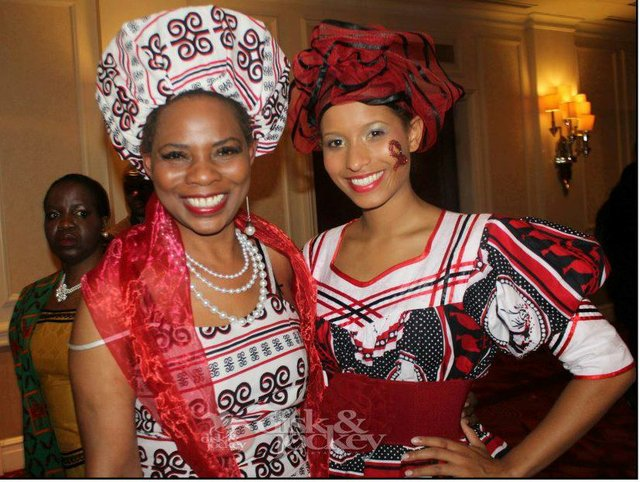 Justina Mutale and Andella Matthews at a GAB Awards ceremony