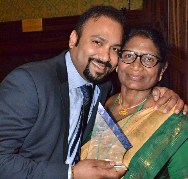 Founders of Gnanam Foundation - Lycamobile Chairman - Subaskaran Allirajah and his mother, Gnanambikai Allirajah