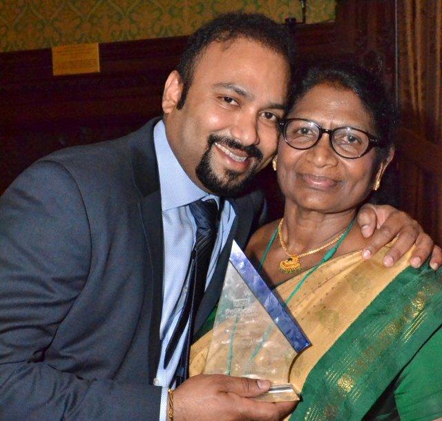Founders of Gnanam Foundation - Lycamobile Chairman - Subaskaran Allirajah and his mother, Gnanambikai Allirajah