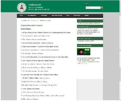 Nigeria State House Web screenshot