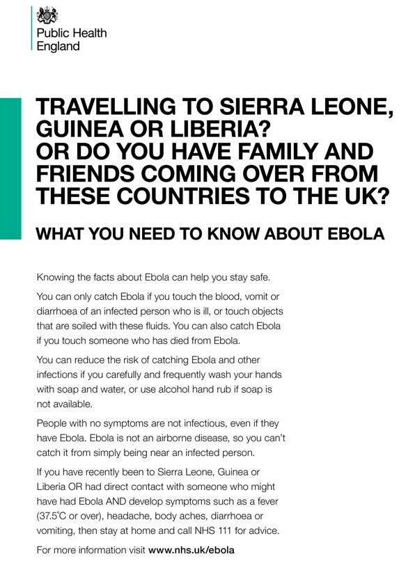 PHE Ebola Announcement