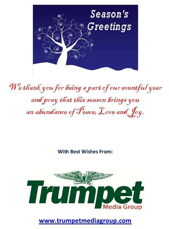 Season s Greetings from Trumpet